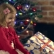Om Gives Daughter a Gift for Christmas - VideoHive Item for Sale