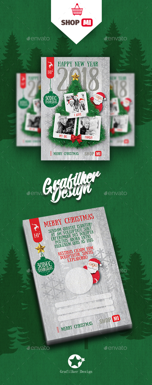 GraphicRiver Christmas Postcard Templates 20996622