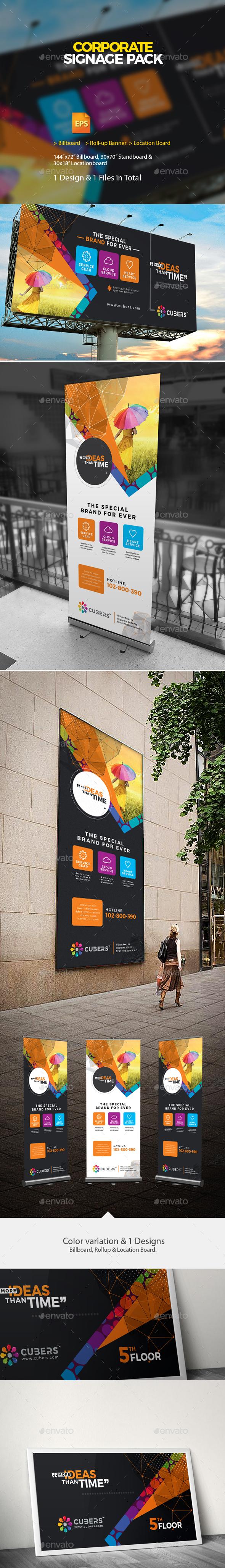 GraphicRiver Corporate Roll-up Billboard & Location Board 20996896