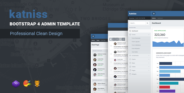 Image of Katniss Responsive Bootstrap 4 Admin Template