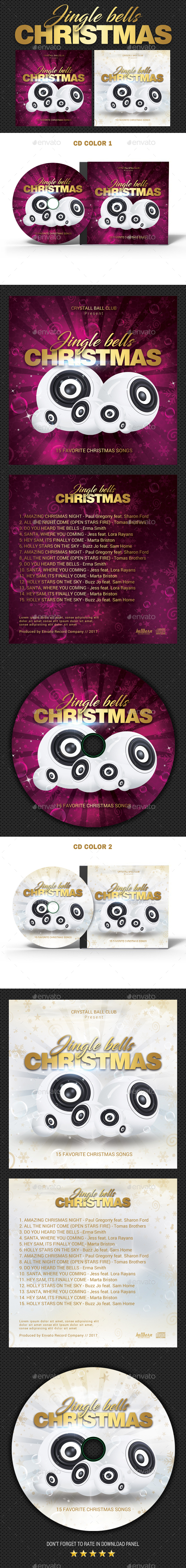 GraphicRiver Christmas Bells CD Cover 20997018