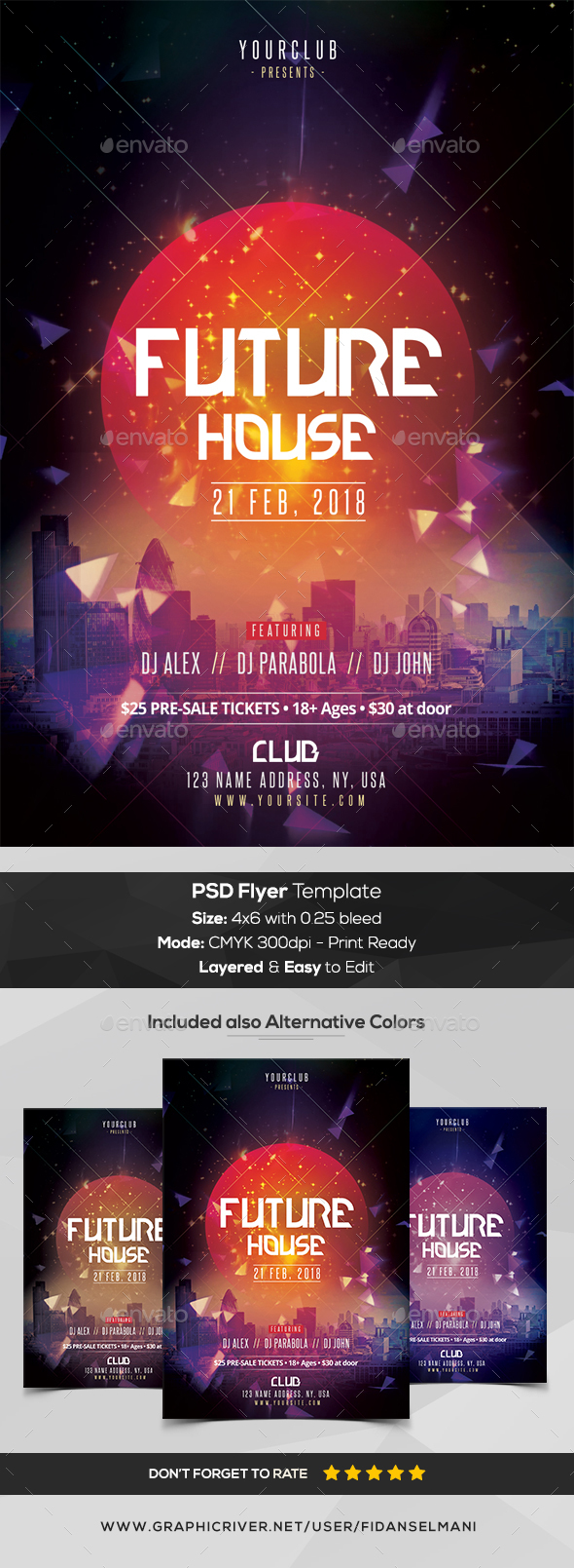 GraphicRiver Future House PSD Flyer Template 20986073