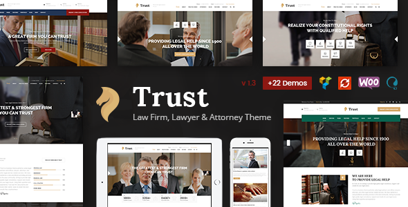 Trust Business - Lawyer and Attorney WordPress Theme - Business Corporate