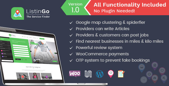 ThemeForest Listingo Business Listing WordPress Directory Theme 20617051