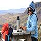 Tourist Girl in The Picnic Area