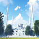 3D Mosque and Trees - VideoHive Item for Sale