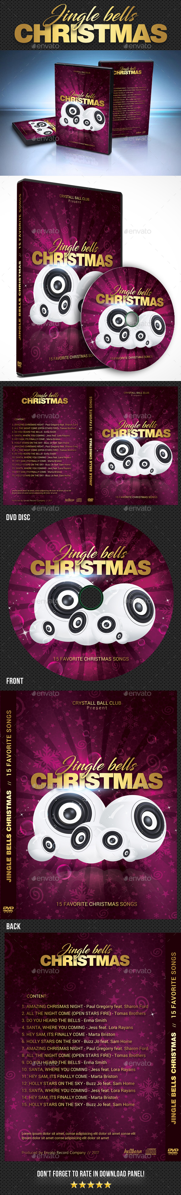 GraphicRiver Christmas Bells DVD Cover Template 20997346