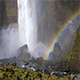 Haifoss Waterfall With Rainbow, Iceland - VideoHive Item for Sale