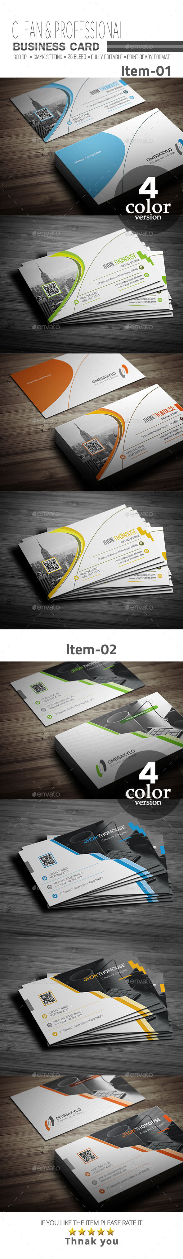 GraphicRiver Business Card Bundle 2 In 1 20997429