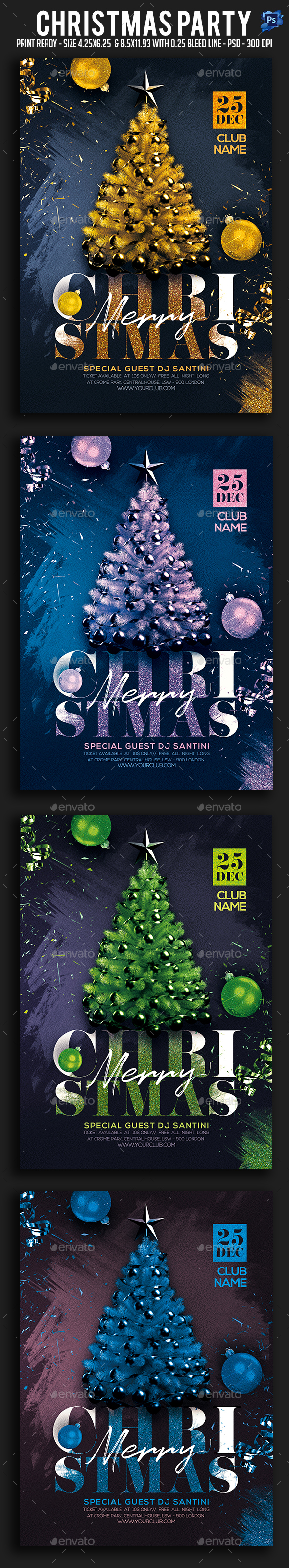 Christmas Party Flyer - Clubs & Parties Events