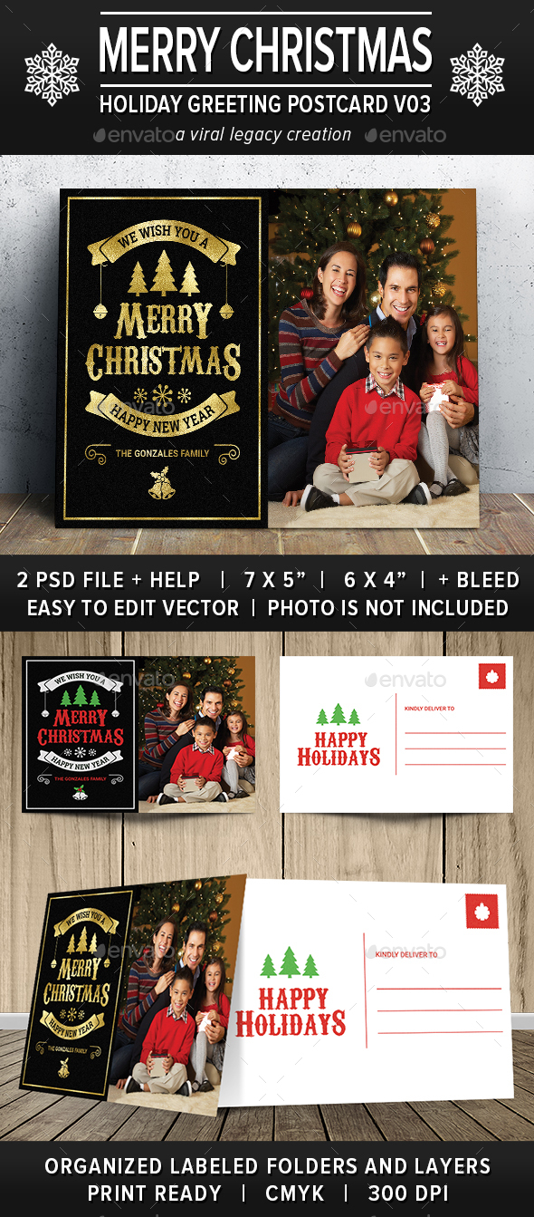 GraphicRiver Christmas Greeting Postcard V03 20997458