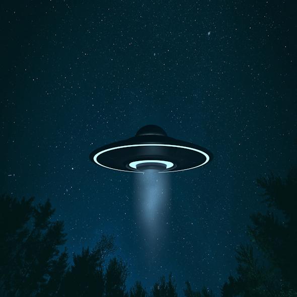 UFO Alien Flying Saucer - 3DOcean Item for Sale