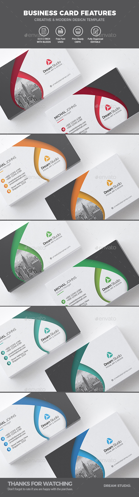 Business Cards by DreamStudio-eg | GraphicRiver