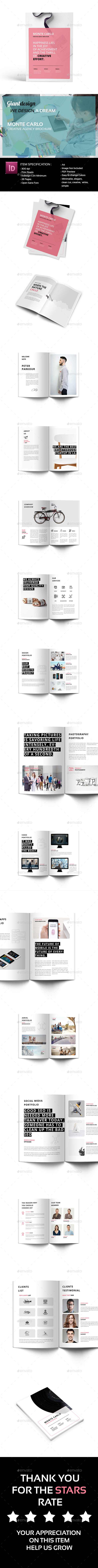GraphicRiver Monte Carlo Creative Agency Brochure 20997571
