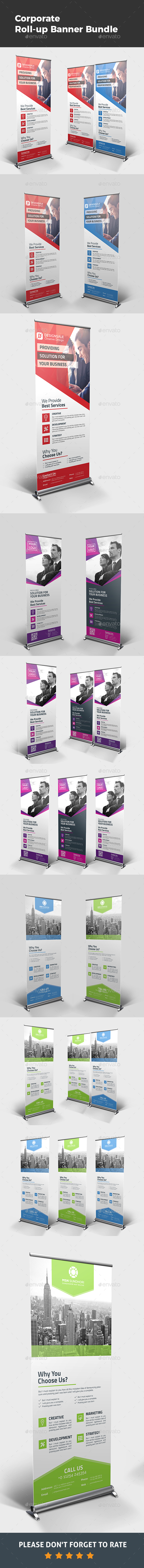 Roll-up Banner Bundle 3 in 1 - Signage Print Templates
