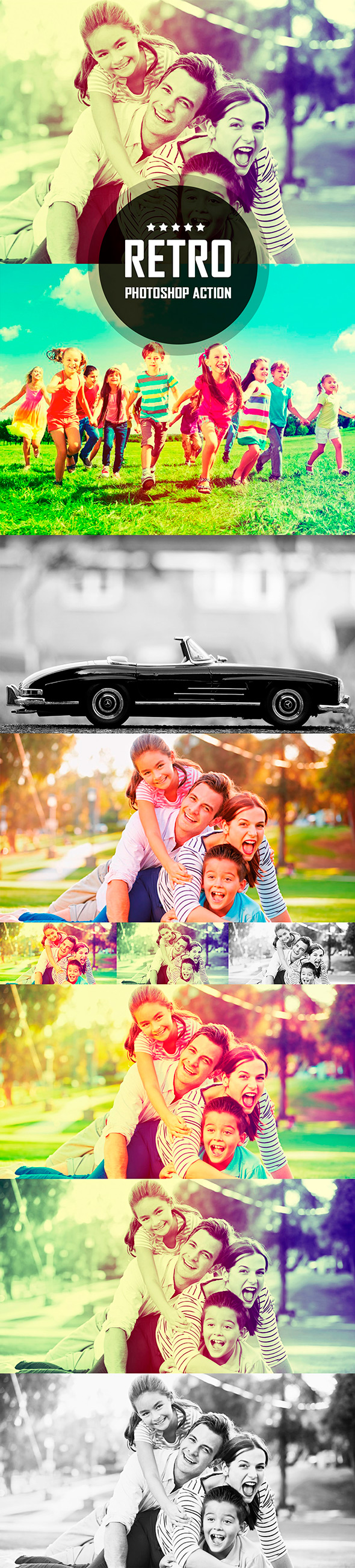GraphicRiver Retro Photo Style Photoshop Action 20987008