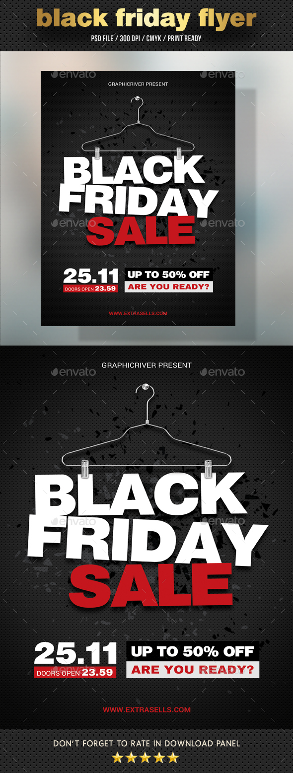 GraphicRiver Black Friday Flyer V06 20997781