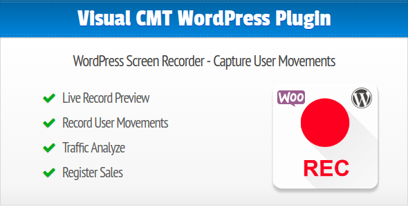 Visual CMT WordPress Screen Recorder Plugin Capture User Movements on your Website or Onlineshop - CodeCanyon Item for Sale