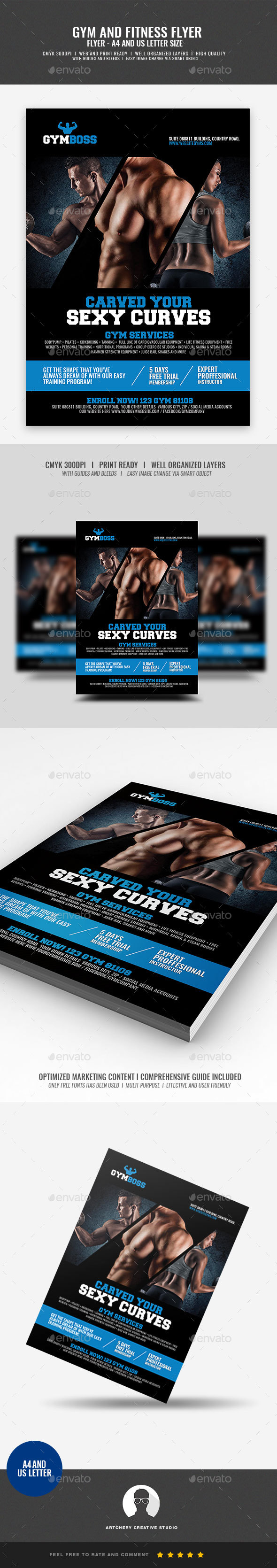 GraphicRiver Fitness and Gym Flyer 20997815