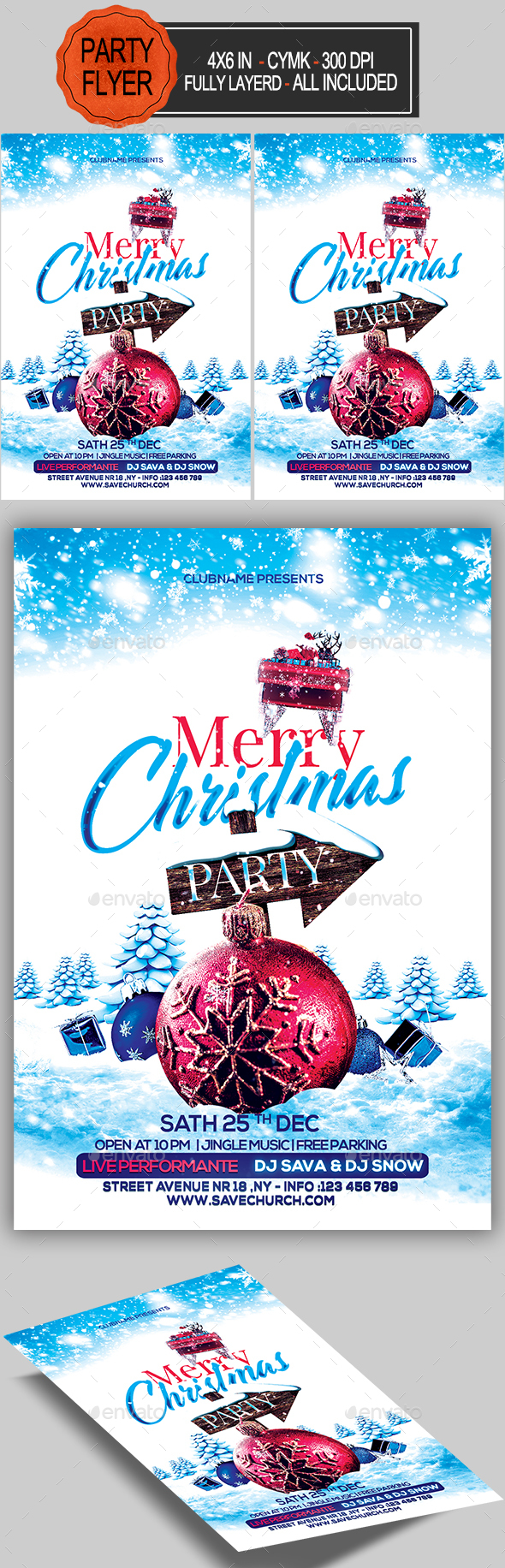 GraphicRiver Merry Christmas Flyer 20997838