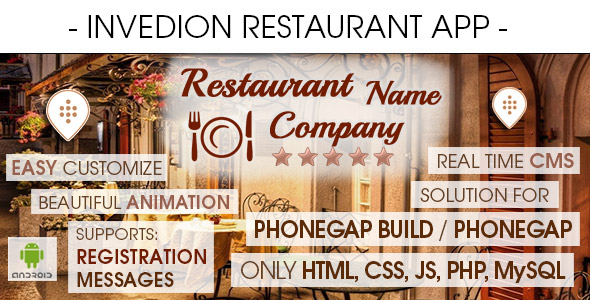 Restaurant App With CMS - Android - CodeCanyon Item for Sale