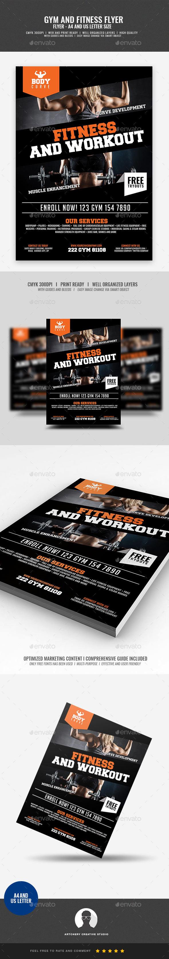 GraphicRiver Fitness and Workout Flyer 20997932