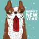 Dog Sticking Out Tongue New Year - GraphicRiver Item for Sale