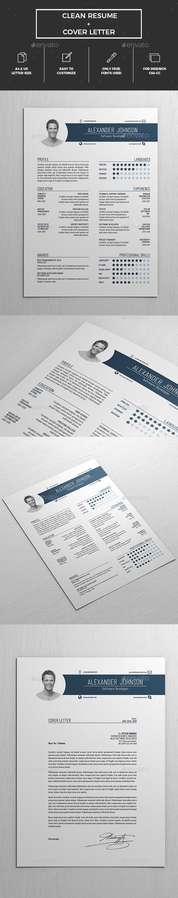 GraphicRiver Resume 20975383