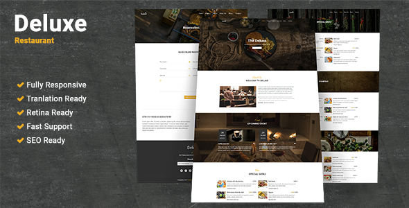 Deluxe Restaurant WordPress Theme