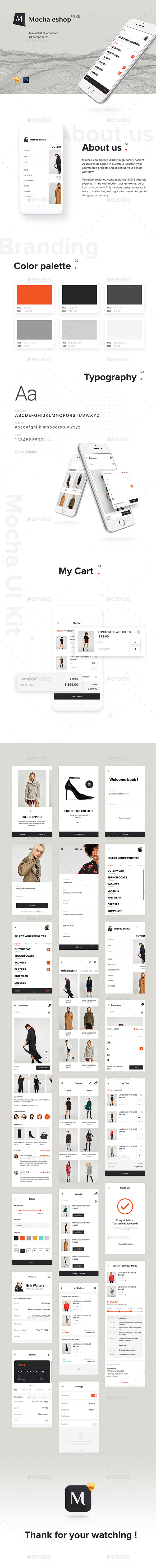 GraphicRiver eShop e-commerce App UI Kit 20998129