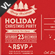 Holiday Christmas Party Postcard V01 - GraphicRiver Item for Sale