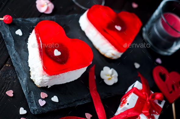 Birthday cake for Valentine's Day - Stock Photo - Images