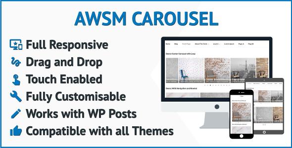 Responsive Carousel Slider for WordPress Posts Full Customizable WordPress Carousel Slider Plugin - CodeCanyon Item for Sale