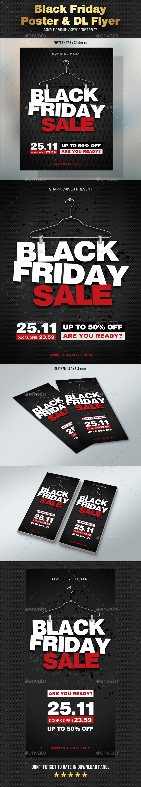 GraphicRiver Black Friday Poster and DL Flyer 20998246