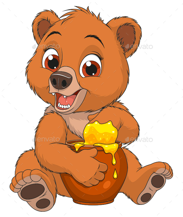GraphicRiver Bear with a Pot of Honey 20998311