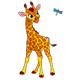 Little Giraffe and Dragonfly - GraphicRiver Item for Sale