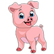 Cheerful Piggy - GraphicRiver Item for Sale
