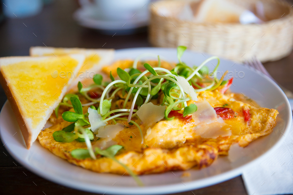 Spanish Omelette Served On Table In Restaurant - Stock Photo - Images