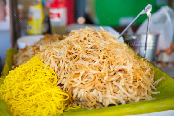 Noodles At Market Stall - Stock Photo - Images