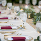 Elegant table set up for dinner for either wedding reception or - PhotoDune Item for Sale