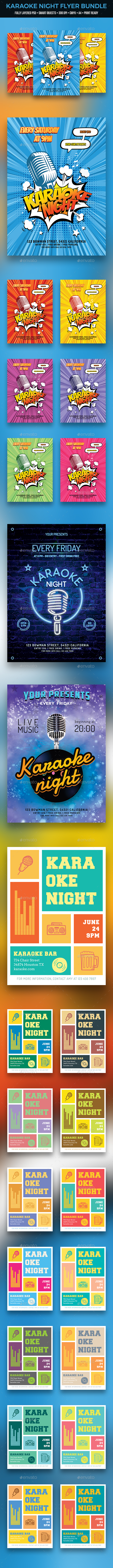 GraphicRiver Karaoke Flyer Bundle 20998961