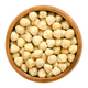 Blanched hazelnuts in wooden bowl - PhotoDune Item for Sale