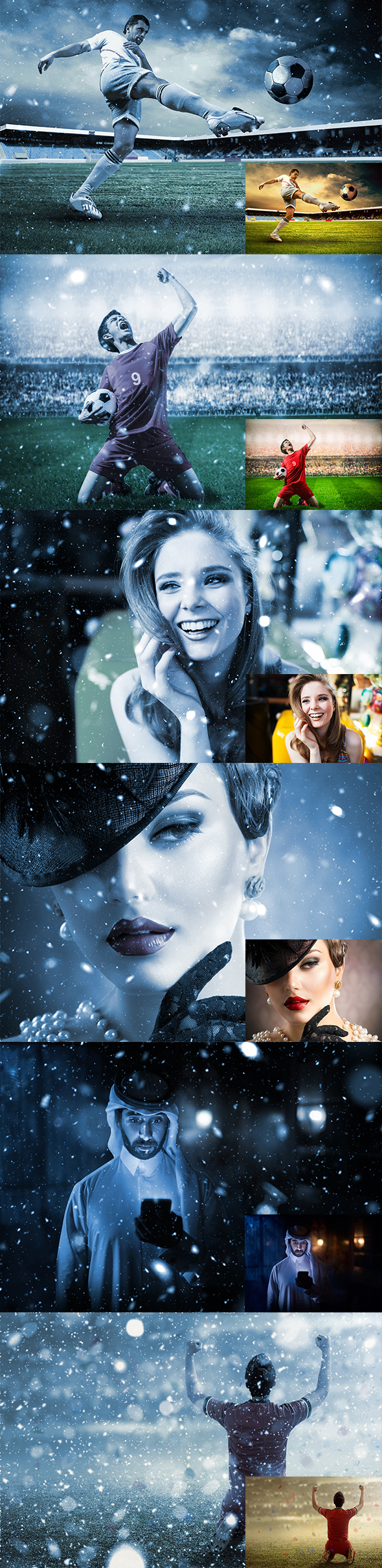 GraphicRiver Let It Snow 2 Photoshop Action 20998966