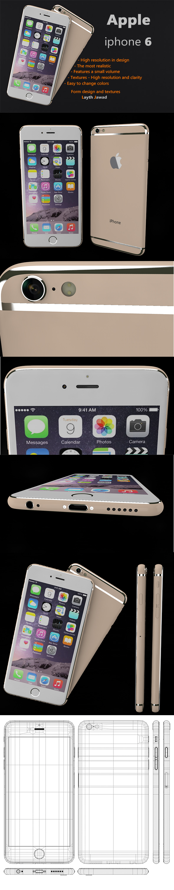 Apple iphone 6 - 3DOcean Item for Sale