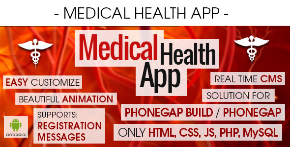 Medical Health App With CMS - Android - CodeCanyon Item for Sale