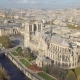 Aerial view of Notre Dame de Paris Cathedral - VideoHive Item for Sale