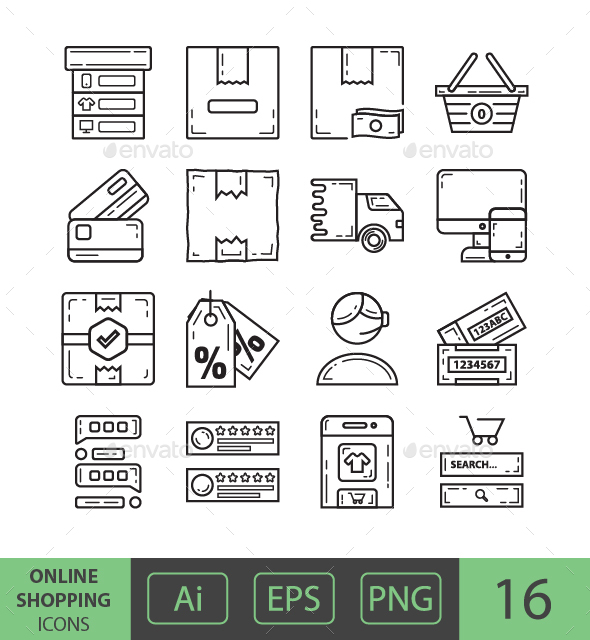 GraphicRiver Online Shopping Icons 20999224