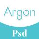Argon - Book Author Portfolio, Landing, Blog PSD Template
