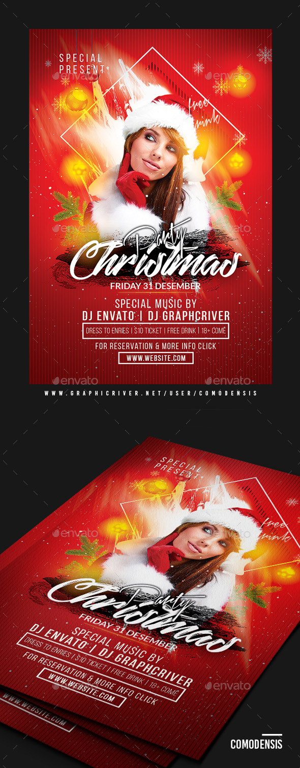 GraphicRiver Dj Christmas Party Flyer 20999380