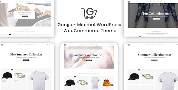 ThemeForest Gonjjo Minimal WooCommerce Theme 20817384